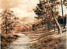 Entrada al pinar (Sanguina s/Ingres)