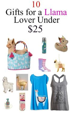 If you know someone who loves llamas and Alpacas then this is for them here are 10 llama gifts under $25- www.mommininapinch.com #giftideas #llamagifts #alpacagifts #llamas #alpacas #giftguide #gifts