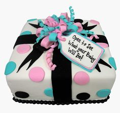 Gender Reveal Cake by Casey's Cupcakes
