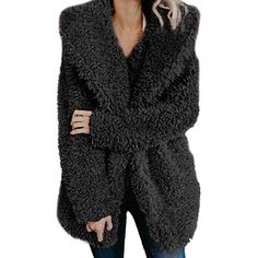 32fadfb02a7 Aurorax Women Fashion Winter Autumn Knitted Long Sleeve Sweater Open Front  Chunky Cardigan