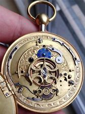 Unique silver&fancy enamel dial Verge Fusee repeater watch for Chinese market