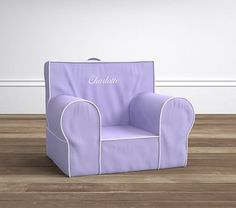 Lavender with White Piping Anywhere Chair® #pbkids