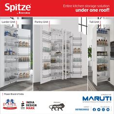 Spitze offers Kitchen Storage Units in varied design and sizes. #Spitze #KitchenStorageUnits #KitchenAccessories #KitchenFittings