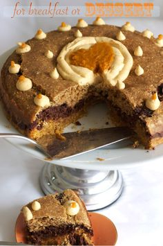Chocolate Pumpkin Cornbread Cake on FamilyFreshCooking.com