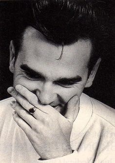 Morrissey Laugh-lines...so becoming on him!