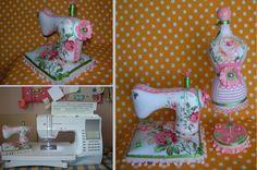 Игольница -маленькая швейная машинка