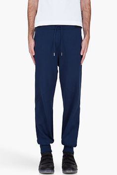 SLVR Navy French Terry Lounge Pants