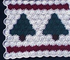 Free Christmas Tree Afghan Crochet Pattern
