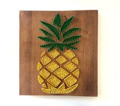 Pineapple <Wood Art//Handmade//Home Decor//String Art//Signs> by CarreDesigns on Etsy https://www.etsy.com/ca/listing/276887900/pineapple-wood-arthandmadehome
