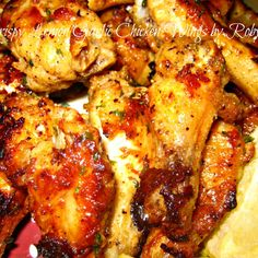 Crispy Lemon Garlic Chicken Wings~Robynne