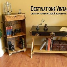 Upcycled Trunk Bookcase