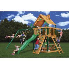Gorilla Blue Ridge Chateau Playset ii  https://backyardplaygroundsets.com/playset/gorilla-playsets-blue-ridge-chateau-2-wood-swing-set/ | Backyard Playground Sets