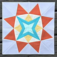 The Spunky Star - June 2014 Lucky Stars Block of the Month Club