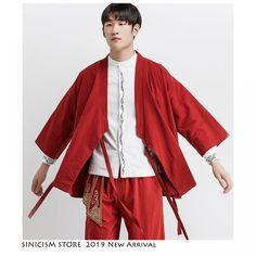Sinicism Store Men Streetwear Solid Kimono Shirts 2019 Hip Hop Harajuku Fashions Shirt Male Vinatge Black Summer Cardigan Belt  Price: 477.91 & FREE Shipping  #hashtag3 Kimono Shirt, Summer Cardigan, Harajuku Fashion, Shirt Style, Streetwear, Hip Hop, Bell Sleeve Top, Belt, Free Shipping