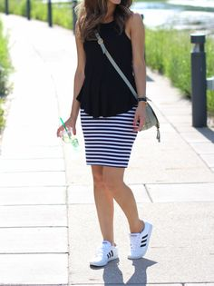 stripes and sneakers   Lilly Style