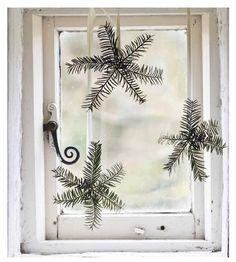 snowflakes- pine sprigs