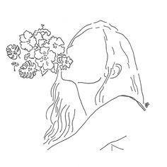 aesthetic drawing line flowers indie drawings simple minimalist outline easy draw poeticamenteflor minimal sketches outlines lineart nature wind poeticamente flor