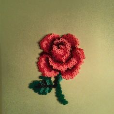 Rose flower hama mini beads by yesimediz