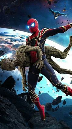 Spider-Man and Groot