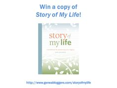 Win a copy of Story of My Life workbook from Shop Family Tree