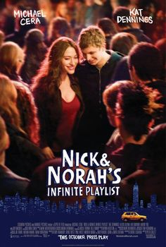 Nick and Norah's Infinite Playlist (2008). High school student Nick O'Leary, member of the Queercore band The Jerk Offs, meets college-bound Norah Silverberg when she asks him to be her boyfriend for five minutes. Michael Cera and Kat Dennings.