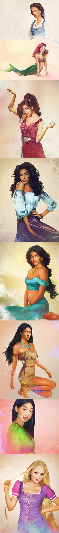 Really well done....Modern Day Disney Princesses. Configuring thousands of physical features of women from around the world to come up with the perfect modern day princess! Interesting!