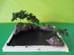 Wire trees and ground cover for river diorama Z`Gok