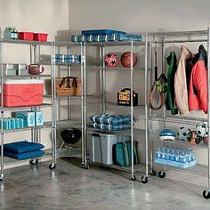 5 Shelf Heavy Duty Storage Rack Chrome - Improvements by Improvements. $109.95. Shelves are adjustable to accommodate a wide variety of items from paint cans to large totes and camping gear. When casters aren't used, each shelf can support up to 600 lbs.. Optional casters (2 locking) turn the Heavy-Duty Storage Racks into convenient rolling racks. When casters aren't used, each shelf can support up to 600 lbs.. Optional casters (2 locking) turn the Heavy-Duty Storage Racks i...