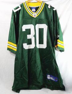 699026955 Details about Green Bay Packers New XXL Reebok NFL Ahman Green Number 30  Football Jersey Green