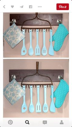 Paint and hang utensils