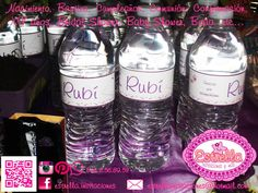 #bridal shower waterbottle favors  #botellitas de agua de despedida de soltera #waterbottle #favors #morado y blanco #purple and white #handmade #hecho a mano Siguenos en: Facebook/estrella.invitaciones e Instagram.... Follow us at Facebook/estrella.invitaciones & Instagram..