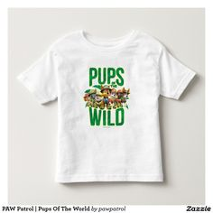 PAW Patrol | Pups Of The World. Puppy, dog lover. Baby, bebé. Producto disponible en tienda Zazzle. Vestuario, moda. Product available in Zazzle store. Fashion wardrobe. Regalos, Gifts. #camiseta #tshirt