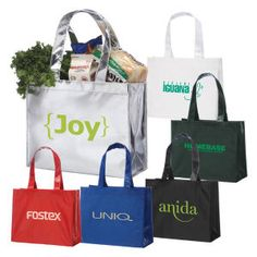 Corporate Gifts & laminated tote bags at bulk prices. Personalized logo imprints available on tote bags. Corporate Giveaways, Corporate Gifts, Trade Show Giveaways, Custom Tote Bags, Reusable Bags, Bag Sale, Canvas Tote Bags, Bullet, Promotional Giveaways
