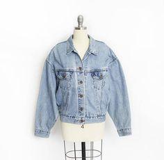 Vintage LEVI'S Denim Jacket  1990s Ladies Blue Jean
