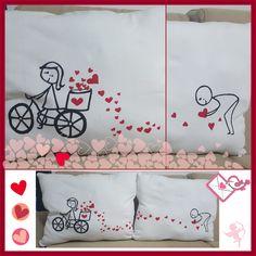 Cojines de amor y amistad con camisetas recicladas   Manualidades