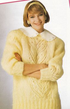 Vintage Knitting Pattern Instructions to Make a Ladies Mohair Jumper