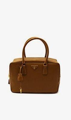 663b9ed6dd42 Prada Womens Saffiano Lux Top Handle Bag in Brown Leather Handbag Purse