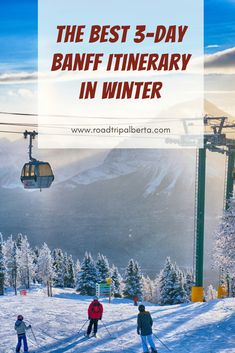 What is there to do in Banff during the winter? We've put together a Banff itinerary that packs in the best the area has to offer for your long-weekend. Winter Road Conditions, Banff National Park, National Parks, Fairmont Chateau Lake Louise, Canadian Travel, Winter Activities, Long Weekend, Trip Planning, Travel Ideas