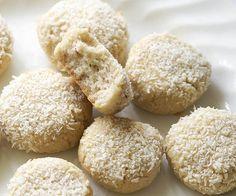 Almond Bonbon Cookies - a Paleo Dessert Recipe on dessertstalker Gluten Free Sweets, Gluten Free Baking, Low Carb Desserts, Healthy Desserts, Low Carb Recipes, Real Food Recipes, Paleo Recipes, Healthy Food, Paleo Cookies