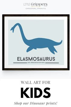 Choose from a selection of 16 different colourful dinosaur to bring any Dinosaur loving toddlers room to life. Customisable size, and colours! #Dinosaur #toddlerboys #kidswallart #colourfulprints Dinosaur Prints, Velociraptor Dinosaur, Kids Rooms, Wall Prints, Art For Kids, Toddlers, Kids Shop, Nursery, Colours
