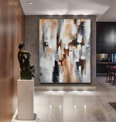 Large Abstract Art-Original PaintingAbstract Wall image 5 Large Abstract Wall Art, Large Artwork, Extra Large Wall Art, Large Painting, Canvas Wall Art, Painting Abstract, Painting Art, Blue Abstract, Art Paintings