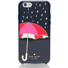 Kate Spade Umbrella Iphone 6 Case ($45) ❤ liked on Polyvore featuring accessories, tech accessories, phone cases and kate spade