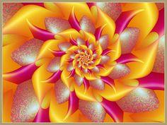 Yellow bows by on deviantART-fractal Art Fractal, Fractal Geometry, Fractal Design, Chakra, Winter Flowers, Color Splash, Cool Art, Mosaic, Photos