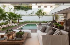small backyard design and swimming pool