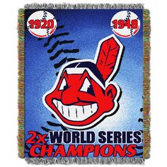 MLB Cleveland Indians Commemorative Tapestry Throw