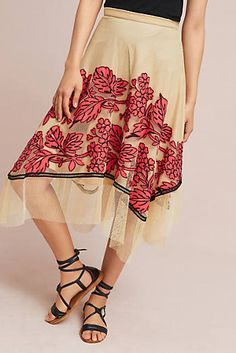 Floral Netted Skirt