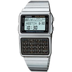 Shop Casio Databank Unisex Digital Quartz Watch with LCD Dial and Grey Steel Strap ✓ free delivery ✓ free returns on eligible orders. Casio Digital, Digital Watch, Casio Databank, Casio Watch, Retro Watches, Vintage Watches, Sport Watches, Watches For Men, Wrist Watches