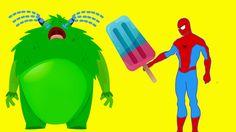 Monster Masha Crying Spiderman her HELP Spiderman Givving her Lollipop B...