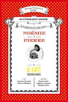 faire part de mariage wedding card festival by marion bizet pour - Faire Part Mariage Guinguette