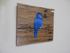 Artist signed Original acrylic art on recycled wood art canvas. by RedeemWood on Etsy